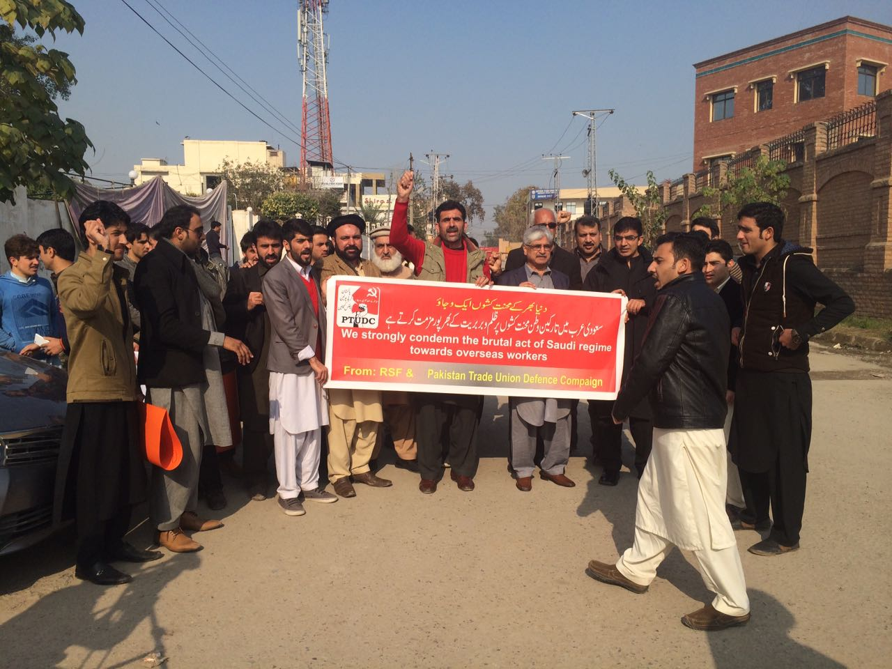 PTUDC-Peshawar-protest-against-Saudi-government